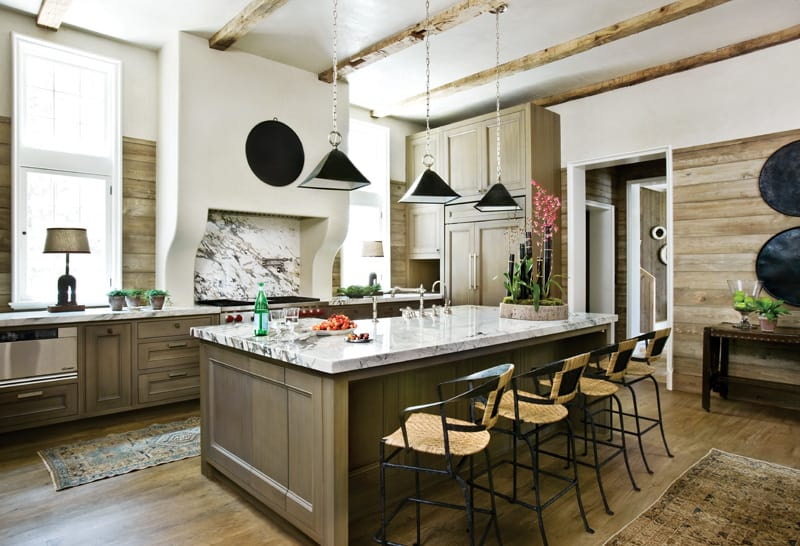 Rustic kitchens that draw inspiration cowgirl magazine - Modern rustic kitchen cabinets ...