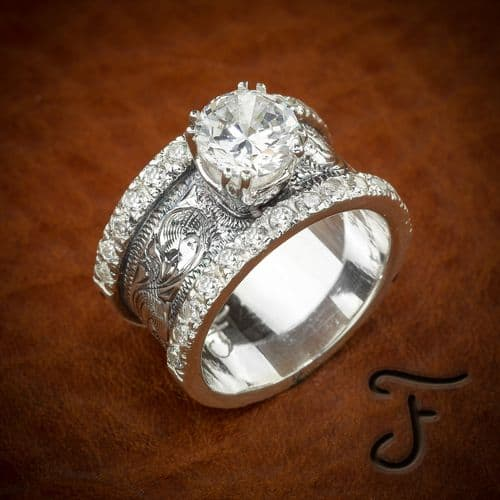 Western wedding rings by travis stringer