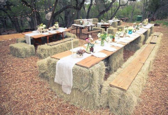 Hay Bale Wedding Seating