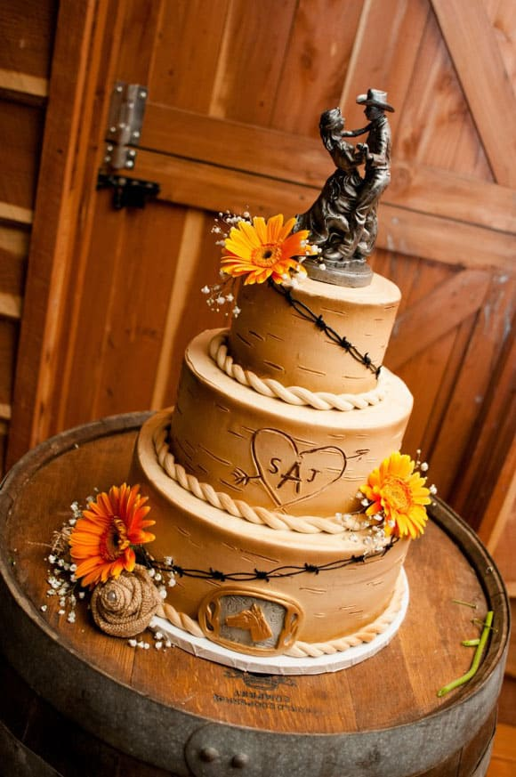 Western Wedding Cakes Cowgirl Magazine