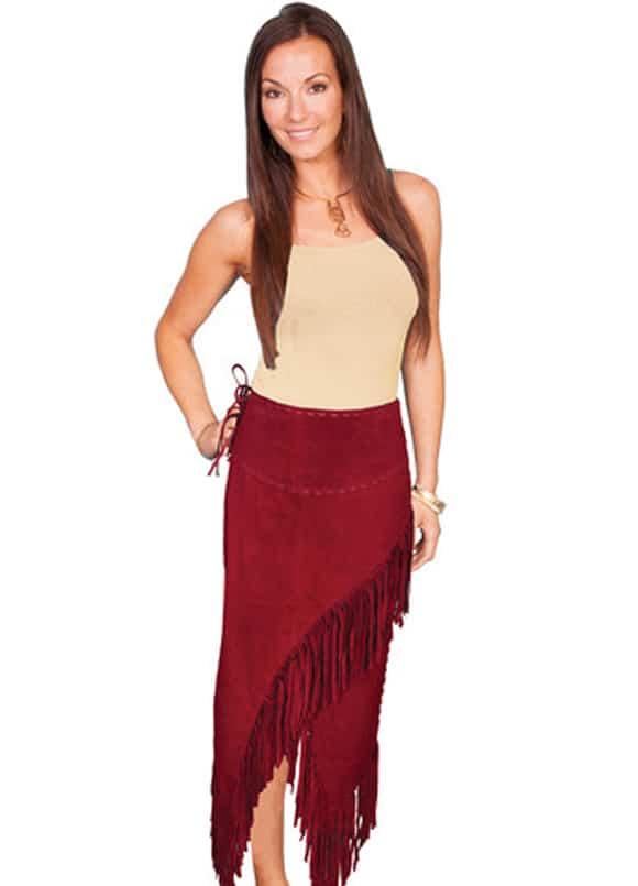 On Trend Leather Fringe Skirts Cowgirl Magazine