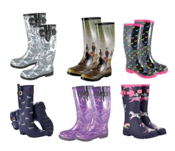 Horse Print Rain Boots - Cowgirl Magazine
