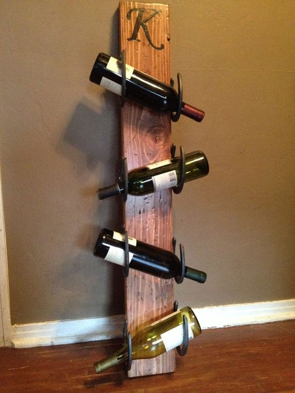 horseshoe wine bottle storage cowgirl magazine