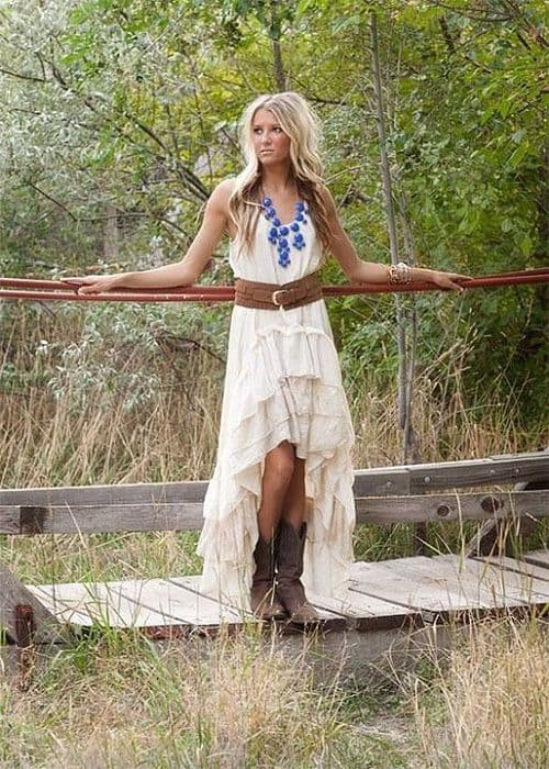 Cowgirl wedding inspiration western worthy wedding for Wedding dresses with cowgirl boots
