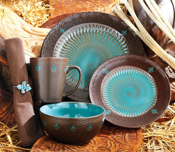 Turquoise Dinnerware For The Kitchen Cowgirl Magazine