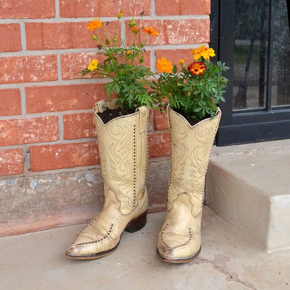 Cowboy Boot Planters - Cowgirl Magazine