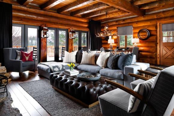 Rustic Wood Living Rooms