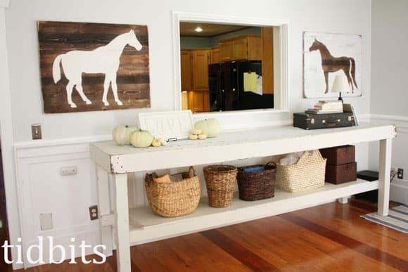DIY Horse Silhouettes