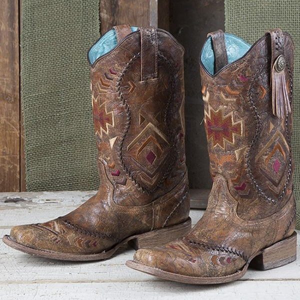 corral cowboy boots with a touch of fringe