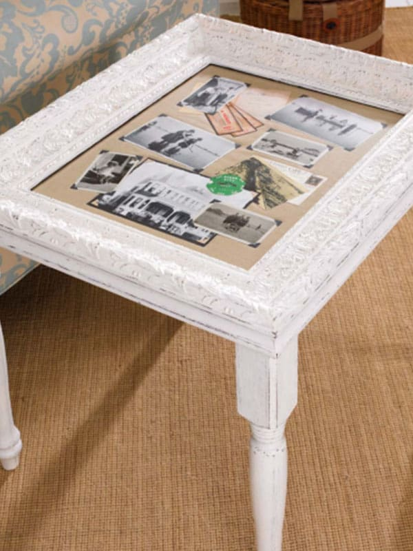 10 creative ways to repurpose old frames cowgirl magazine for Creative ways to make a table