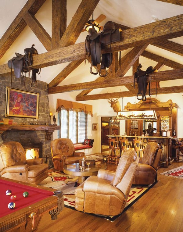 Western home decorating with saddles - Western decor ideas for living roommake a theme ...