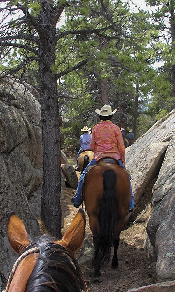girls trail riding