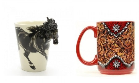 Western coffee mugs