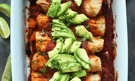 butternut-squash-black-bean-enchiladas