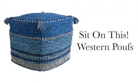 western poufs