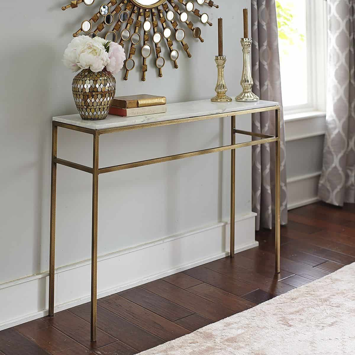 Stone Console Table: Home On The Ranch: Marble Furniture We Love