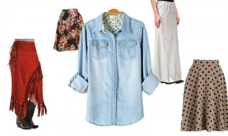 Cowgirl - Skirts to wear with denim shirt