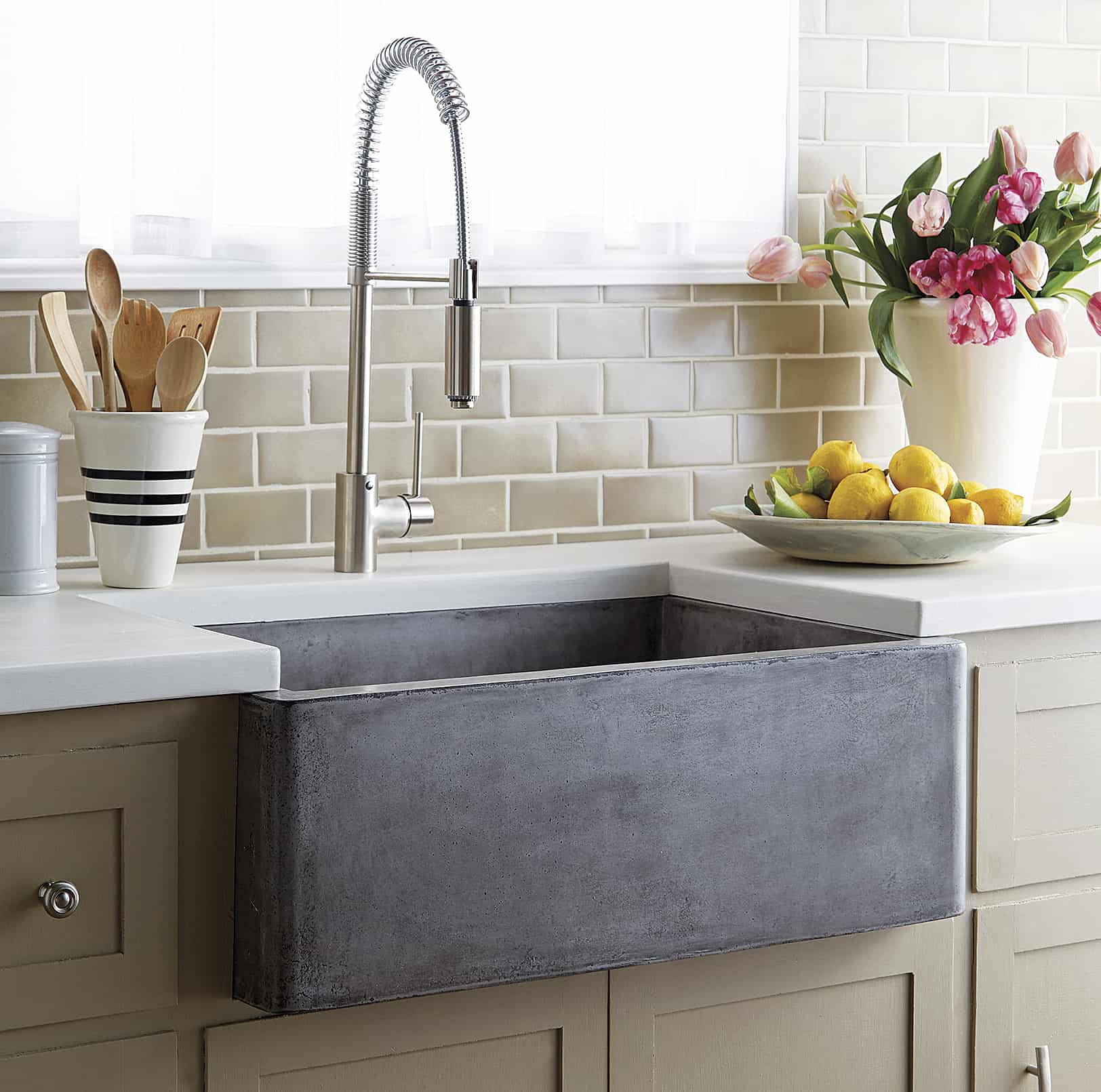 Concrete Farmhouse Kitchen Sink