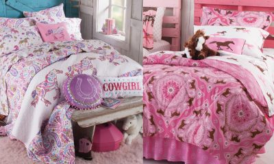 Pink pony bedding for the cowgirl