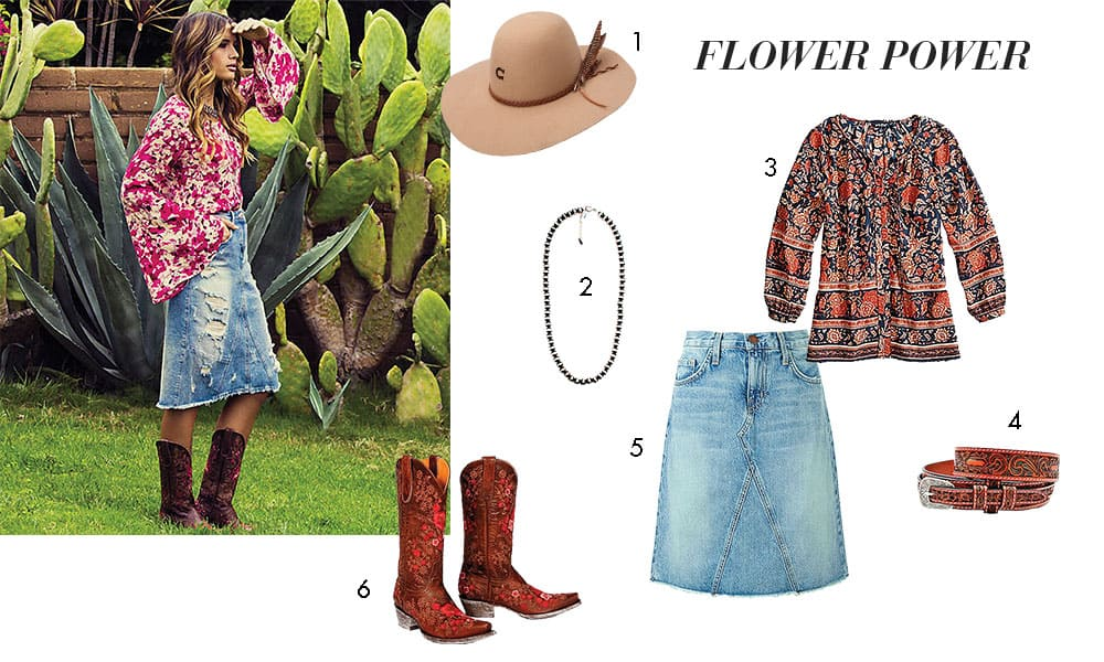 cowgirl style florals and layers