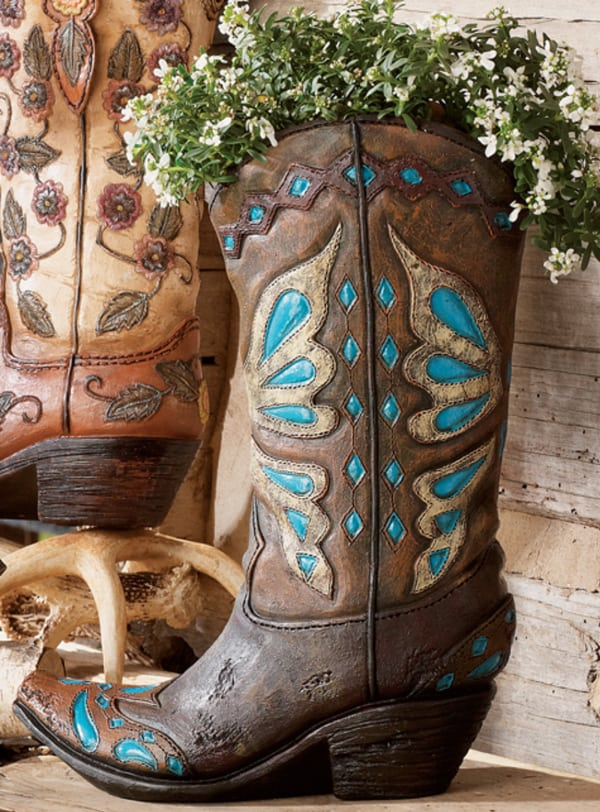 Colorful Cowboy Boot Vases For The Home Page 5 Of 5 Cowgirl Magazine