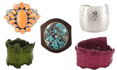 Statement cuffs in fall colors