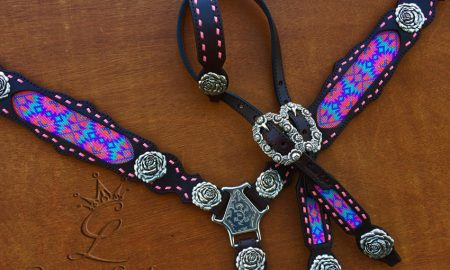 Stunning beaded tack sets