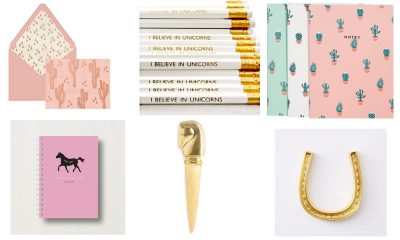Pink and Gold Office Accessories