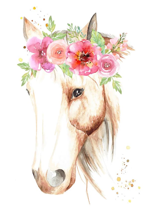 horse-with-flower-crown