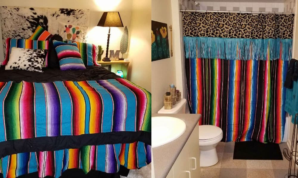 Dorm Life On Point Red Dirt Revival Semexican Bright Colors College Bedroom Bed Bedding Cowgirl