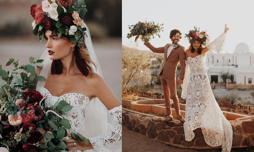 bridal flower child bride flowers bridal bride cowgirl magazine