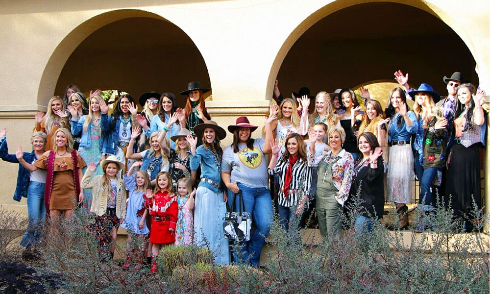 Fashionistas at the RFD-TV American Rodeo Fashion Show put on by Denim and Velvet