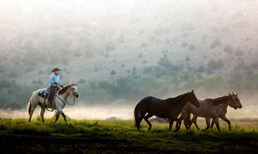 dude ranch brush creek ranch horseback riding cowgirl magazine