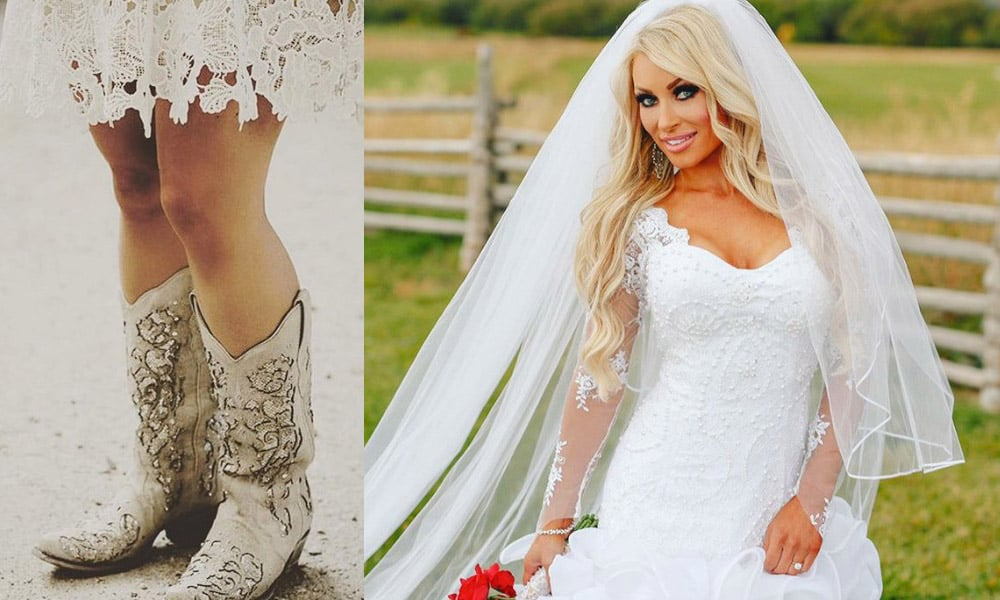 Short Wedding Dress Cowgirl Wedding Cowgirl Magazine