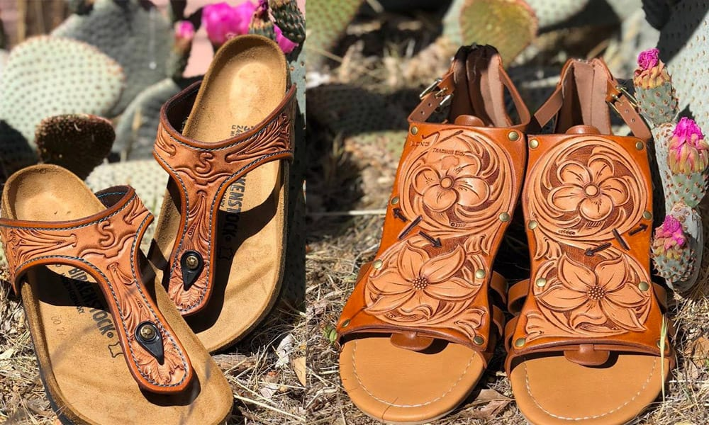 Custom Leather Sandals Long X Trading Co Cowgirl Magazine