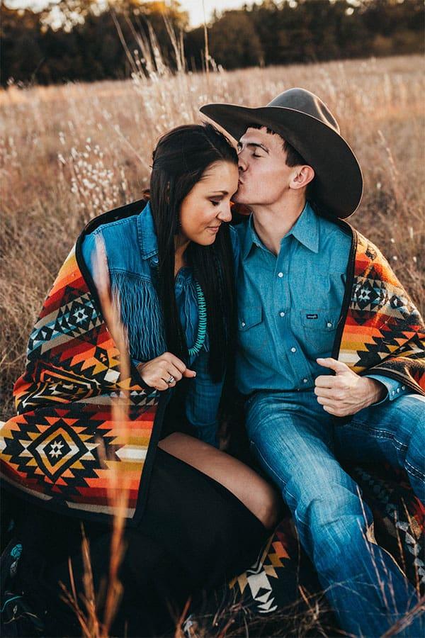 photographer cowgirl magazine Madi Wagner Pendleton cowboy hat American Hat denim denim on denim turquoise forehead kisses