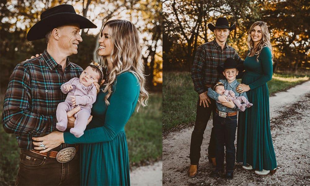 ty Murray Paige duke newborn family photos western bull rider