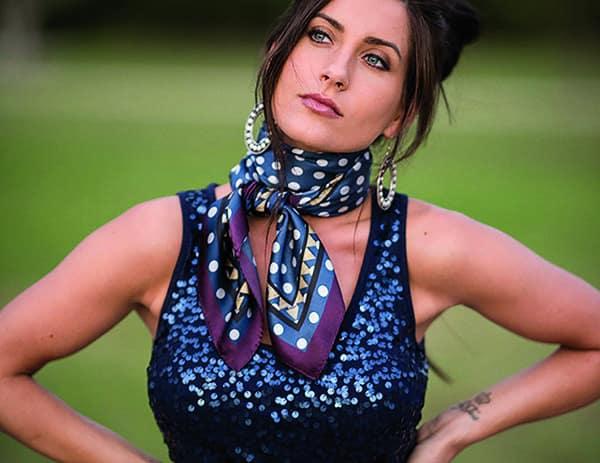 black and blue silk scarf fringe scarves western cowgirl magazine