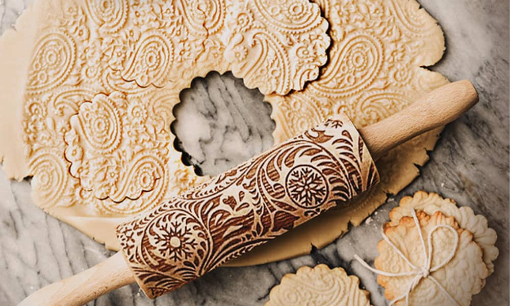 Embossed Decorative Rolling Pin For The Baker In You