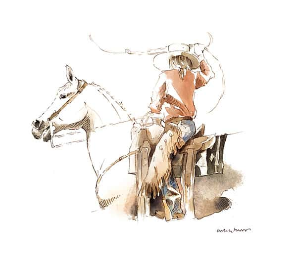 ana gonzalez barros watercolor painting cowgirl magazine