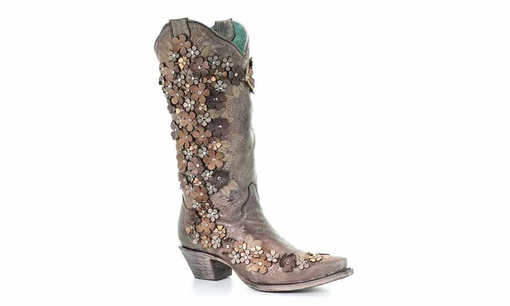 corral tobacco flora boot cowgirl magazine
