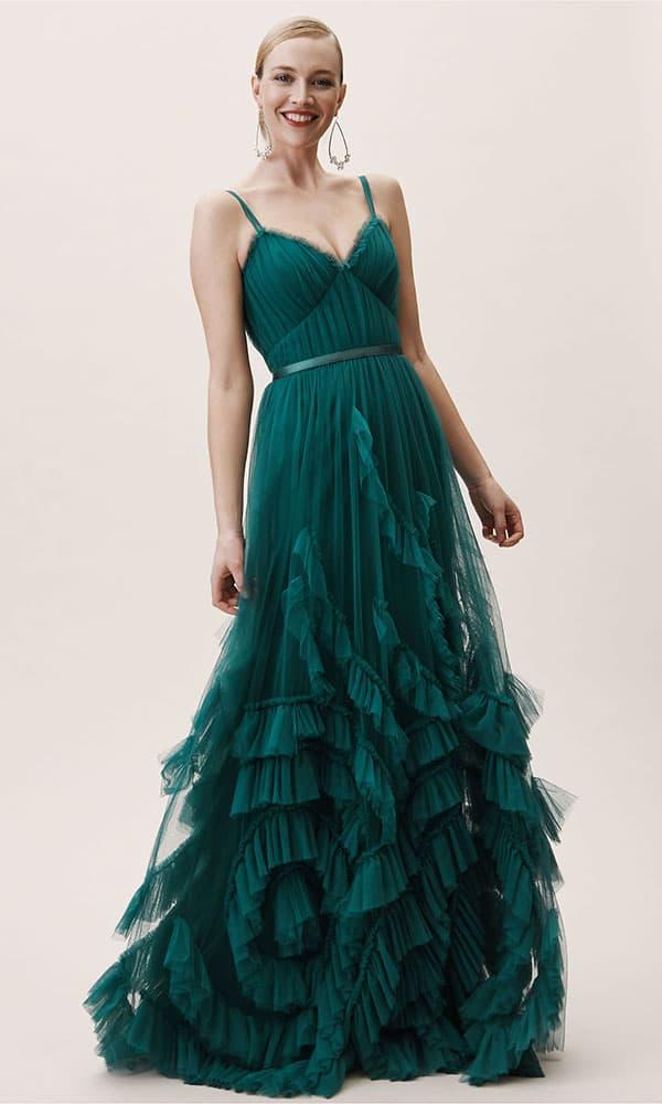 bhldn manila green dress cowgirl magazine