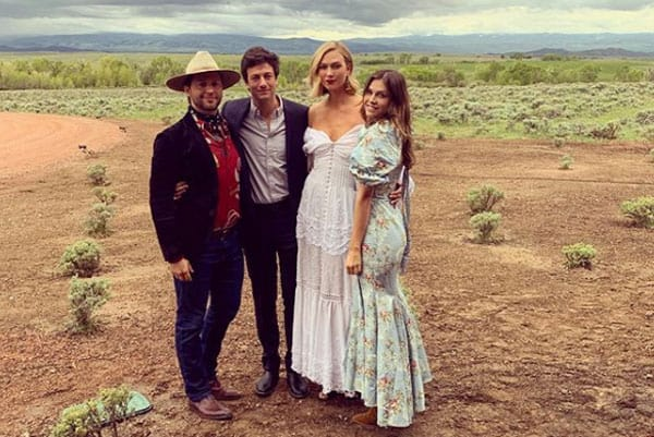 Karlie Kloss stuns in a Western wedding dress.