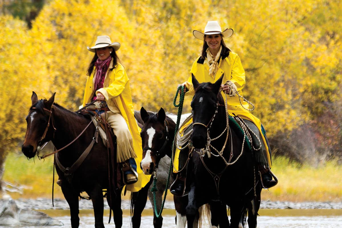 triple creek ranch darby montana river horseback ride cowgirl magazine