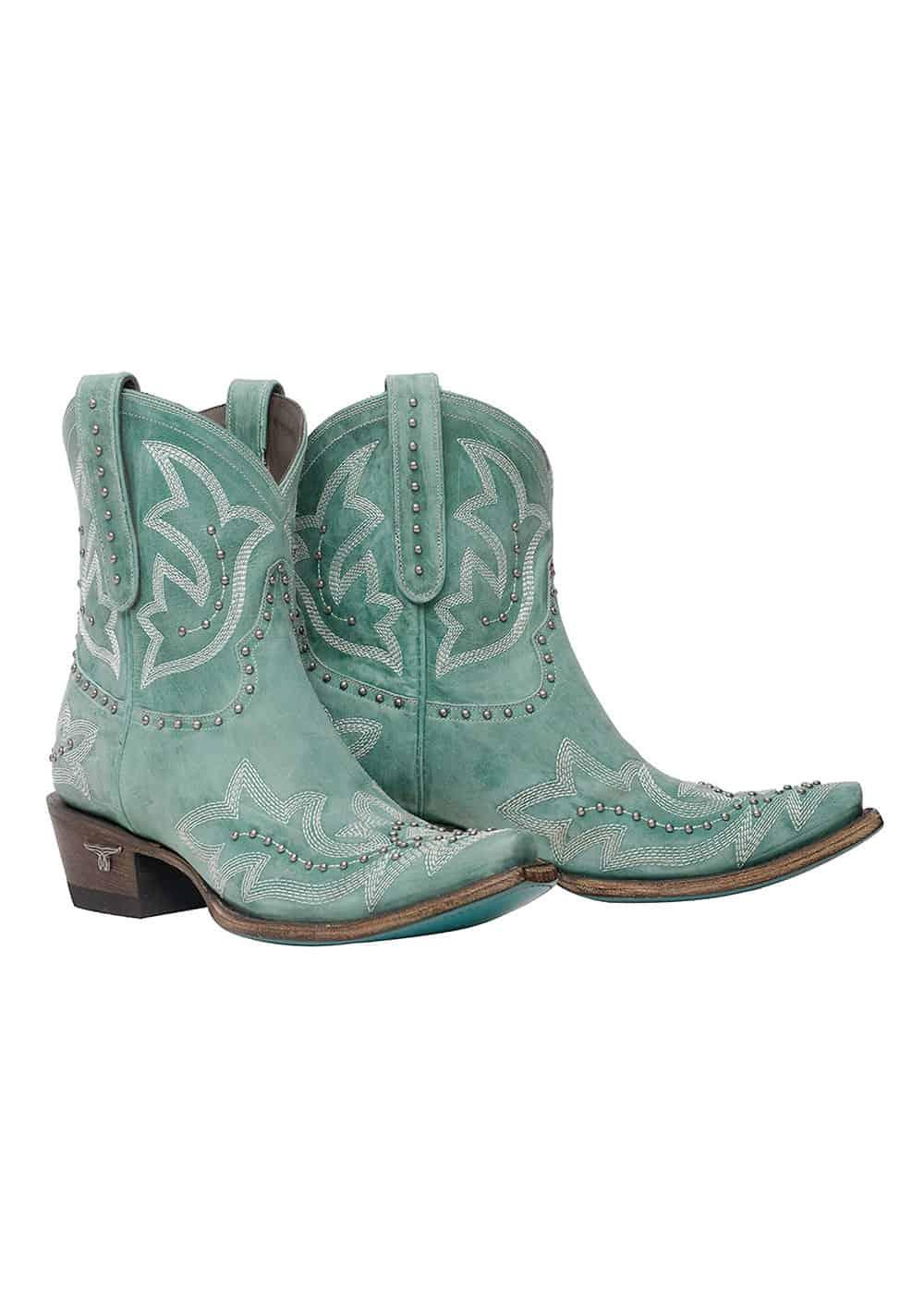 lane boots saratoga stud bootie cowgirl magazine