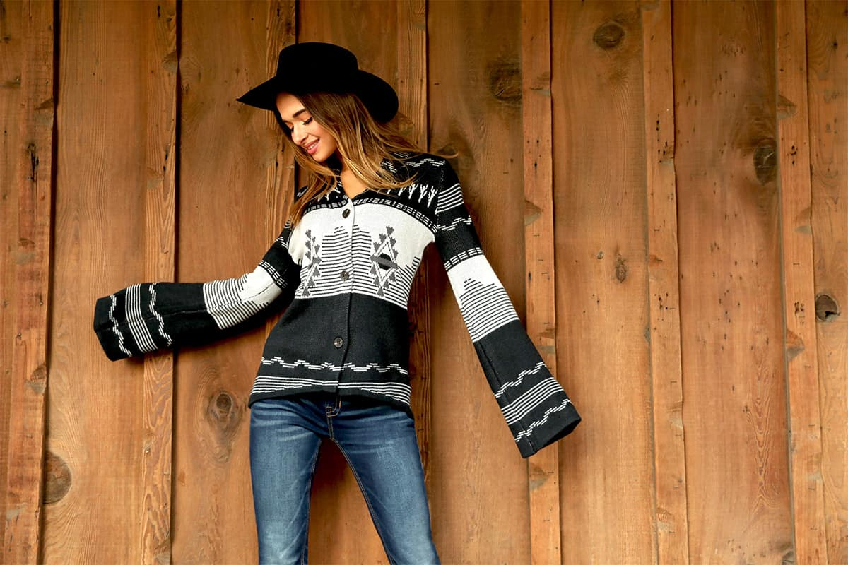 powder river rock & roll cowgirl sweater cowgirl magazine