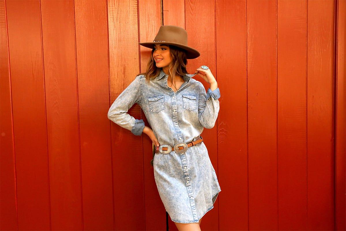 washed denim shirt dress cowgirl magazine