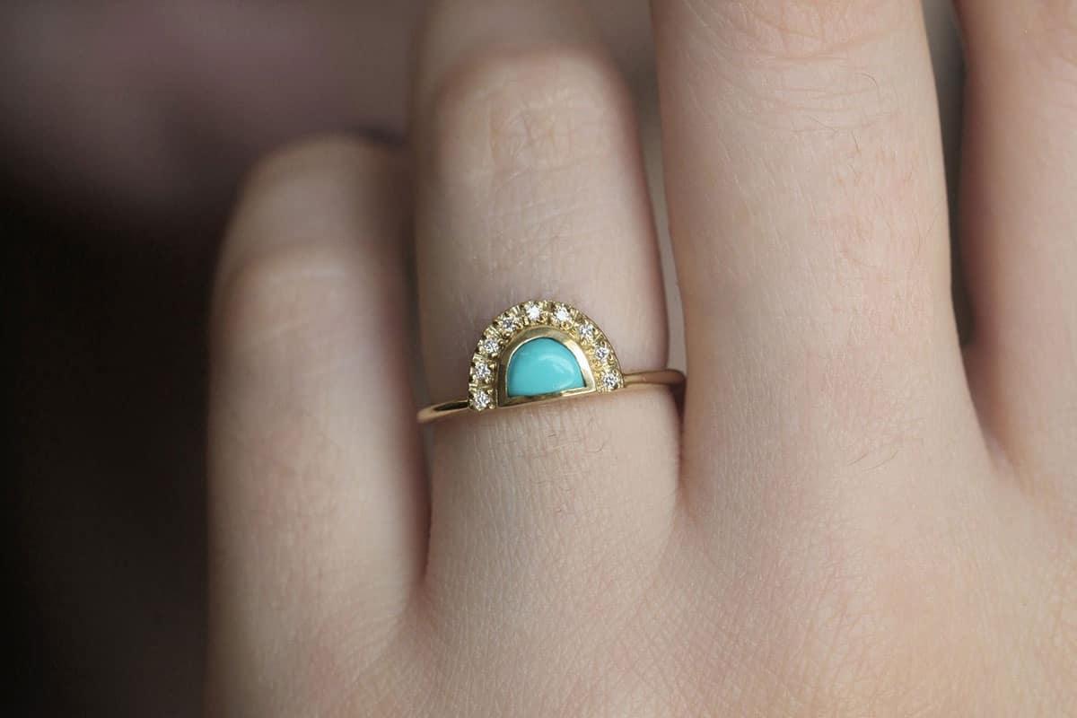turquoise engagement ring cowgirl magazine