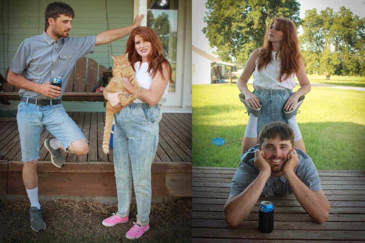 80's maternity photos baby shower cowgirl magazine