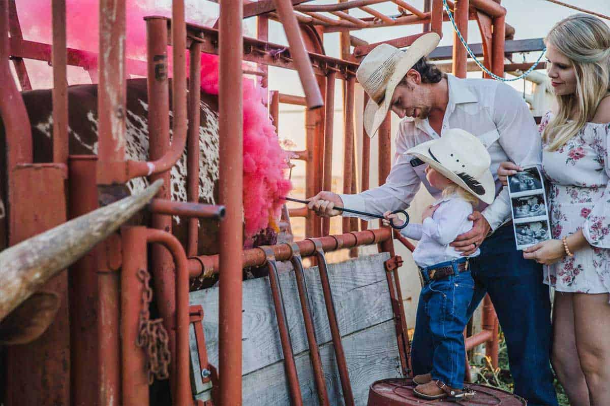 gender reveal chute out Watusi cowgirl magazine